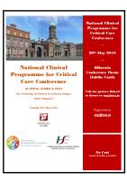 Critical Care Programme Conference Programme front page preview image