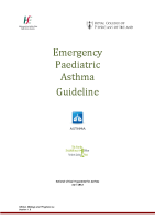 Emergency Paediatric Asthma Guidelines front page preview