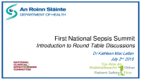 First National Sepsis Summit front page preview