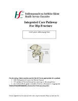 Integrated Care Pathway For Hip Fracture front page preview