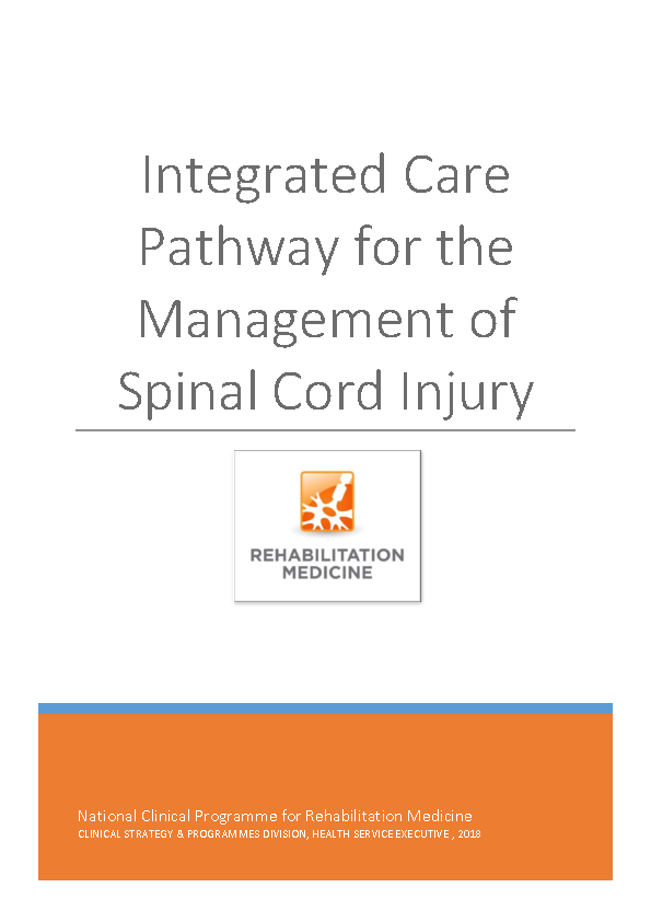 Integrated Care Pathway for Spinal Cord Injury front page preview image