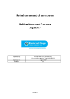 MMP Reimbursement Review Sunscreen front page preview