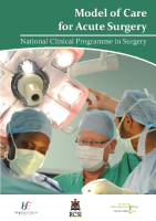 Model of Care for Acute Surgery front page preview