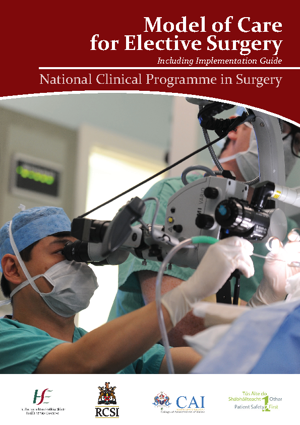 Model of Care for Elective Surgery front page preview image