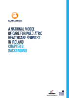 Chap 3: Model of Care for Paediatric Healthcare: Background front page preview