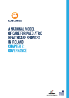Chap 7: Model of Care for Paediatric Healthcare: Governance front page preview