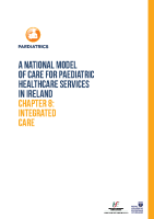 Chap 8: Model of Care for Paediatric Healthcare: Integrated Care front page preview