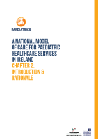 Chap 2: Model of Care for Paediatric Healthcare: Introduction front page preview