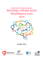 National Stroke Audit Rehabilitation Units 2016 front page preview