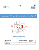 National Stroke Register Annual report 2017 front page preview