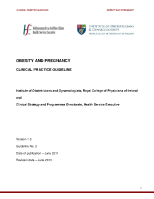 Obesity and Pregnancy: Clinical Practice Guideline front page preview