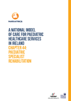 Chap 44: Paediatric Specialist Rehabilitation front page preview