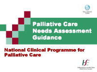 Palliative Care Needs Assessment Guidance  front page preview