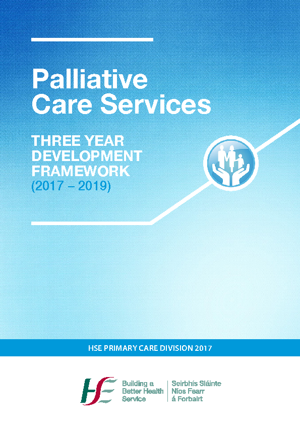 Palliative Care Services Development Framework (2017-2019) front page preview image