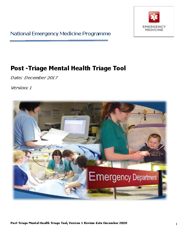 Post-Triage Mental Health Triage Tool December 2017 front page preview image