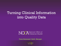 Turning Clinical Information into Quality Data front page preview