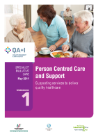 Workbook 1 - Person Centred Care and Support front page preview
