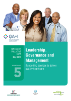 Workbook 5 - Leadership, Governance and Management front page preview