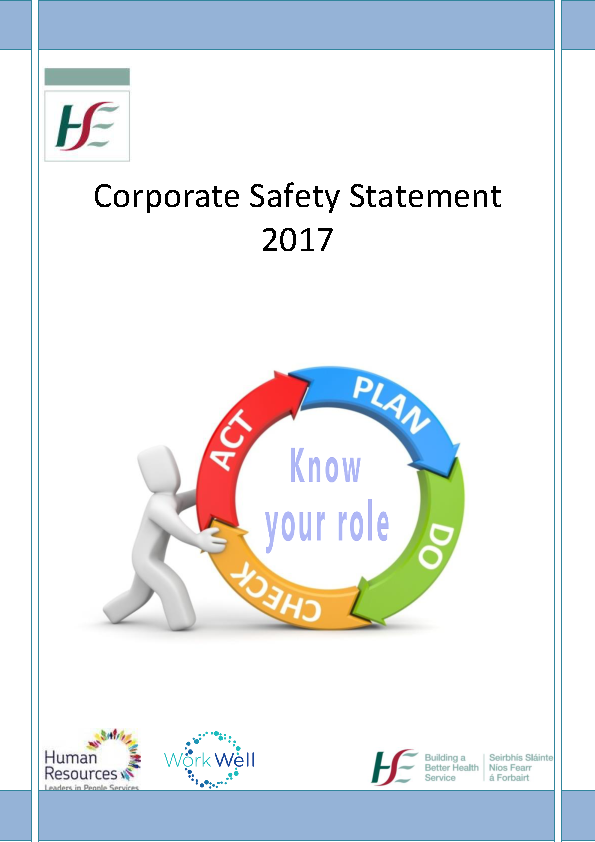 Corporate Safety Statement 2017 front page preview image