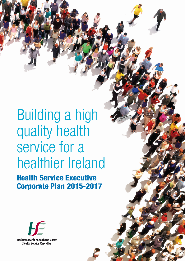 HSE Corporate Plan 2015-2017 front page preview
