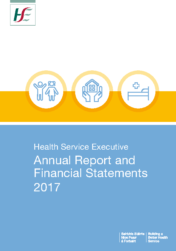 HSE Annual Report and Financial Statements 2017 front page preview image
