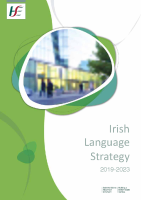 HSE Irish Language Strategy 2019-2023 front page preview image