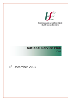 HSE National Service Plan 2006 front page preview