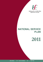 HSE National Service Plan 2011 front page preview
