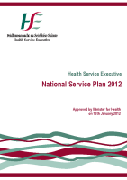National Service Plan 2012 front page preview
