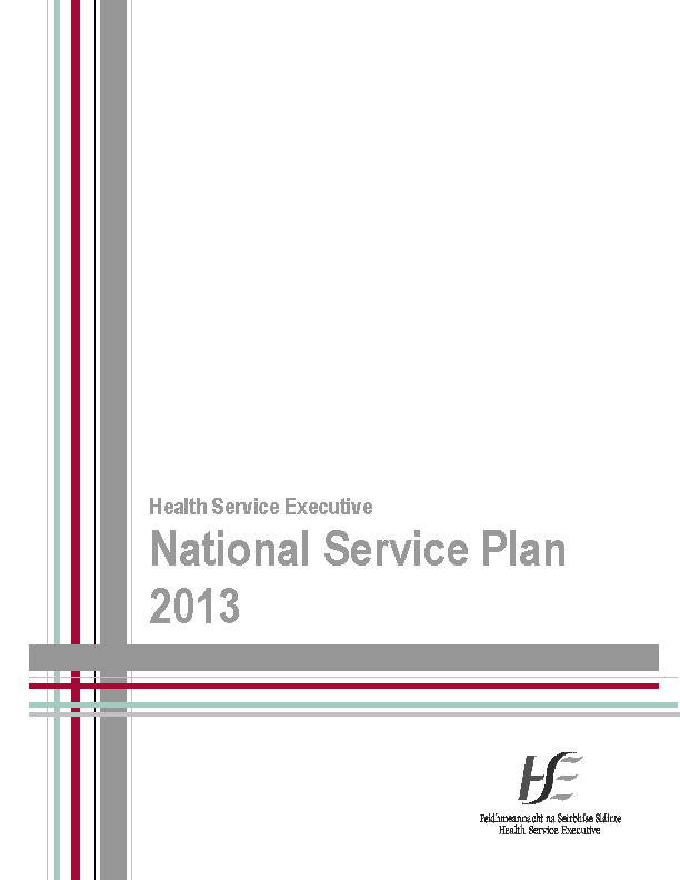 National Service Plan 2013 front page preview