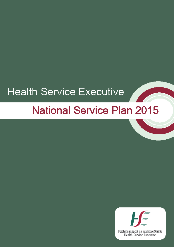 National Service Plan 2015 front page preview