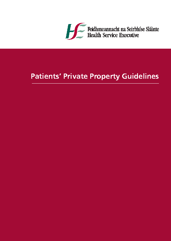 Patients Private Property Guidelines front page preview