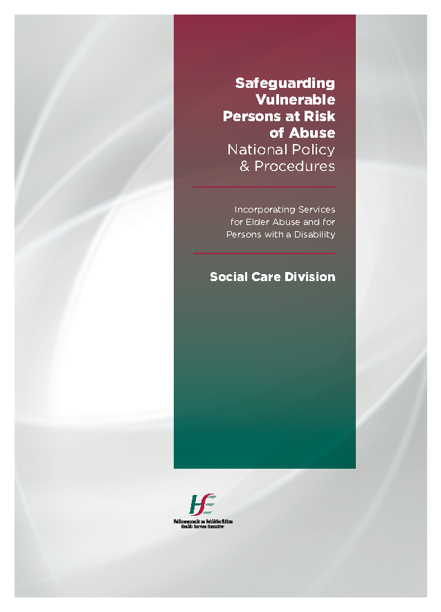 Safeguarding Vulnerable Persons at Risk of Abuse front page preview