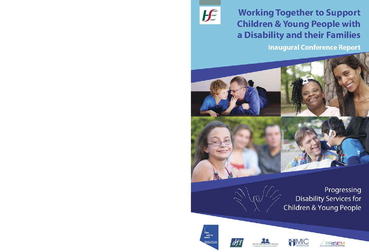 Progressing Disability Services for Children and Young People Conference Report 2018 front page preview image