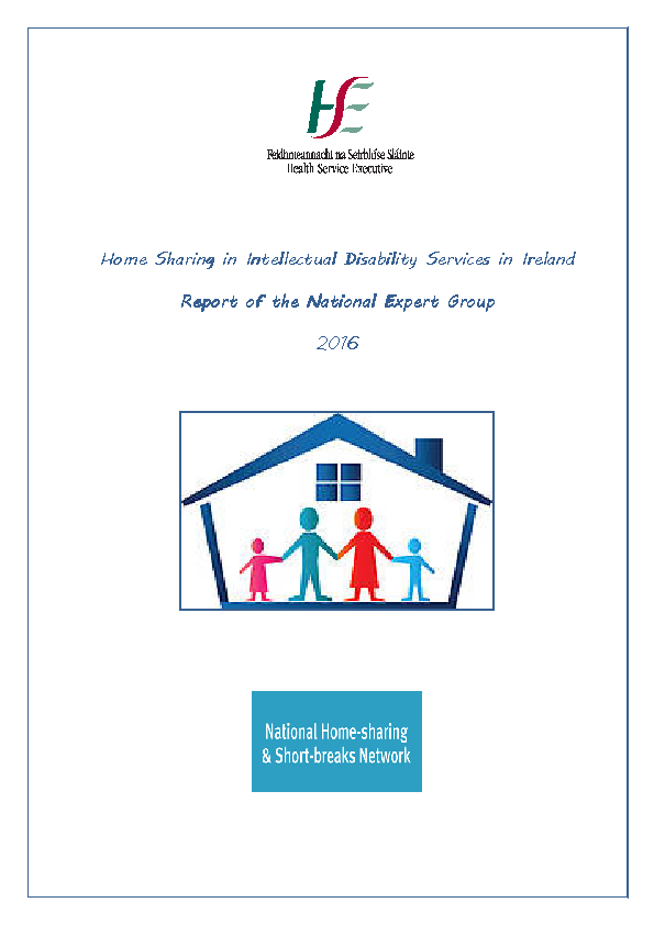 Report of the National Expert Group on Home Sharing front page preview image