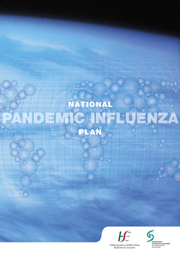 National Plan for Pandemic Influenza January 2007 front page preview