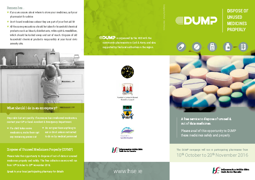 Dump Leaflet 2016 front page preview image