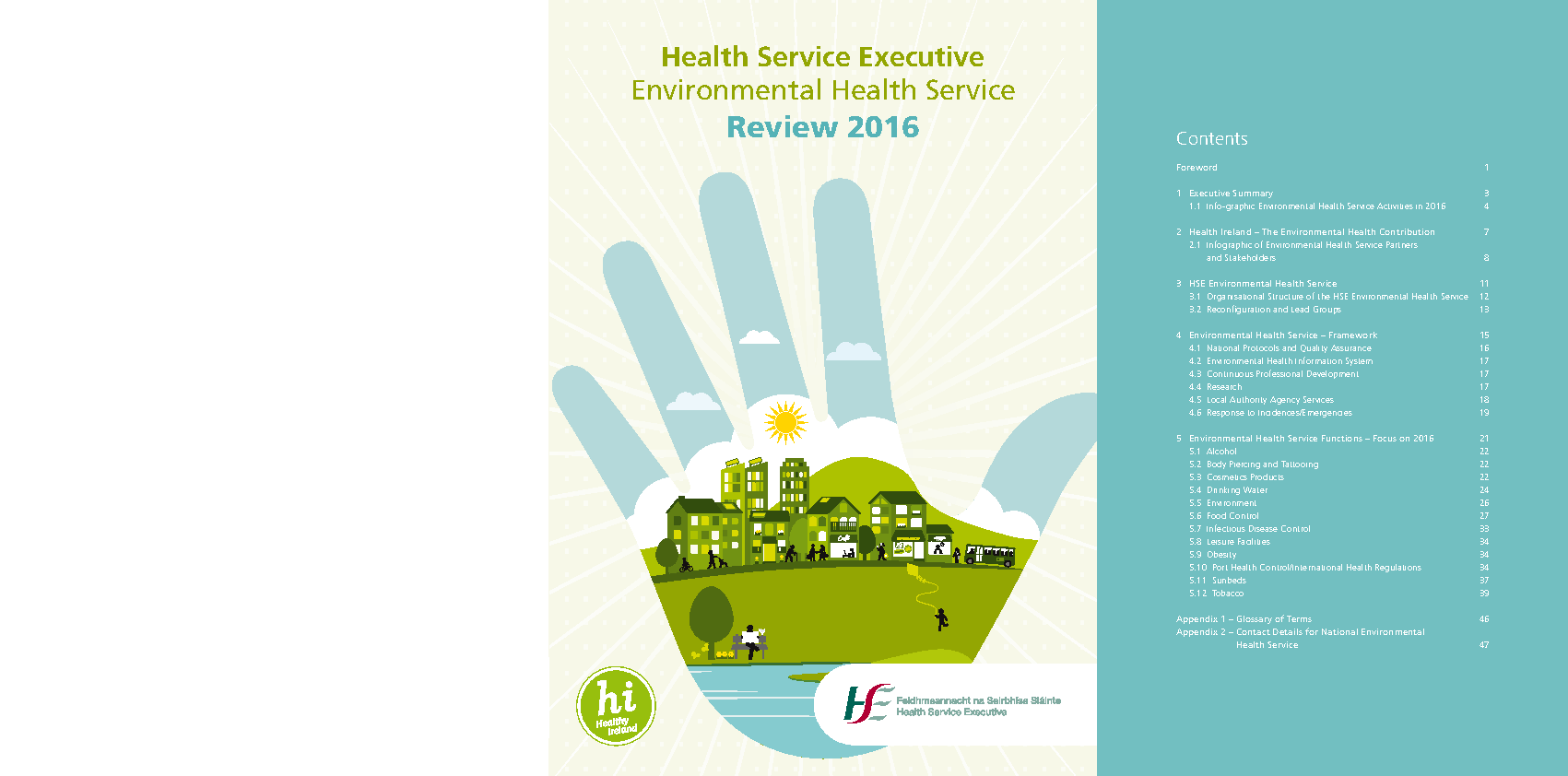 HSE Environmental Health Service Report 2016 front page preview image