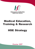 Medical Education, Training & Research HSE Strategy front page preview
