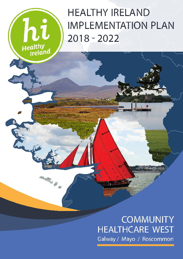 Healthy Ireland Implementation Plan 2018-22 (Community Healthcare Wes) front page preview image