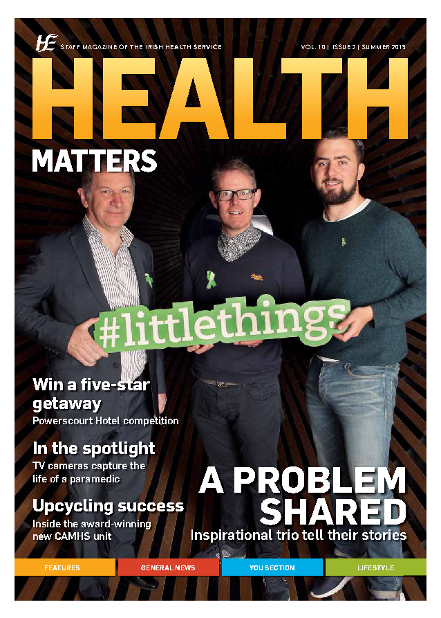 Health Matters Summer 2015 front page preview