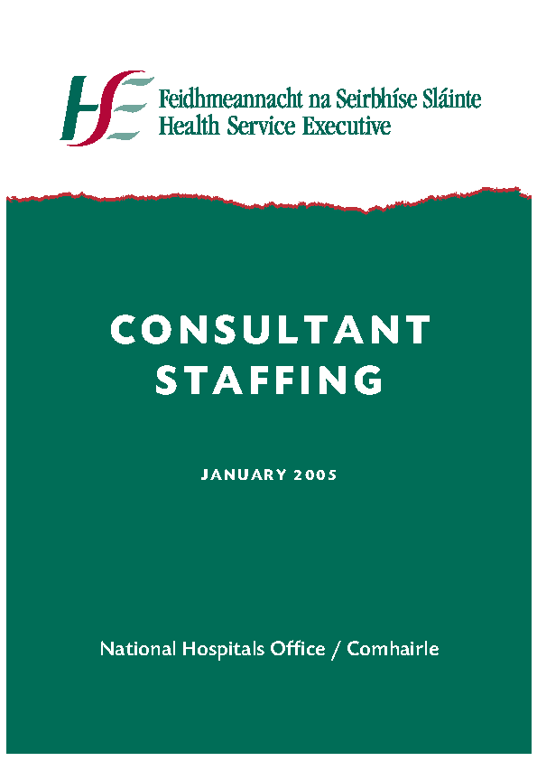 Consultant Staffing 2005 front page preview