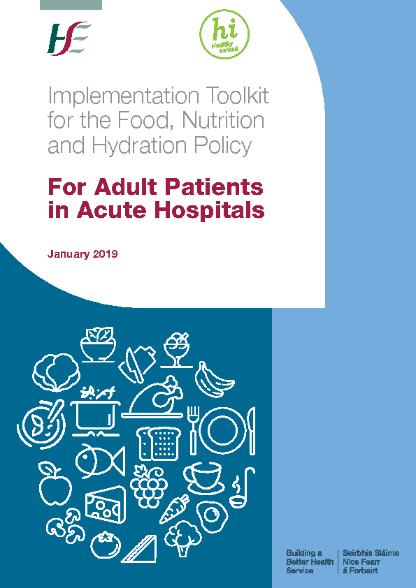 Implementation Interactive Toolkit for the Food, Nutrition and Hydration Policy for Adult Patients in Acute Hospitals front page preview image