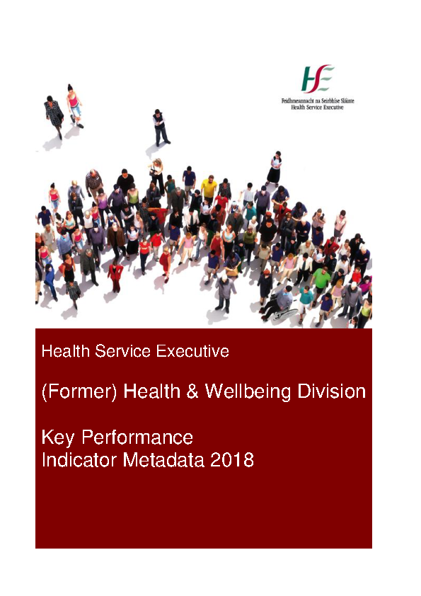 (Former) Health & Wellbeing Division Metadata 2018 - Final front page preview image