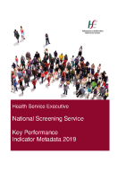 2019 National Screening Service NSP Metadata front page preview image