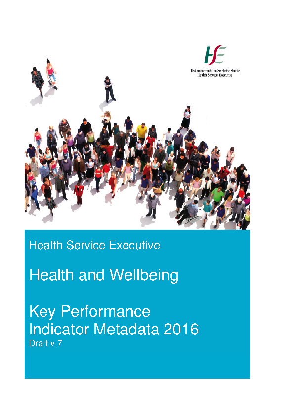 Health Wellbeing Metadata 2016 front page preview image