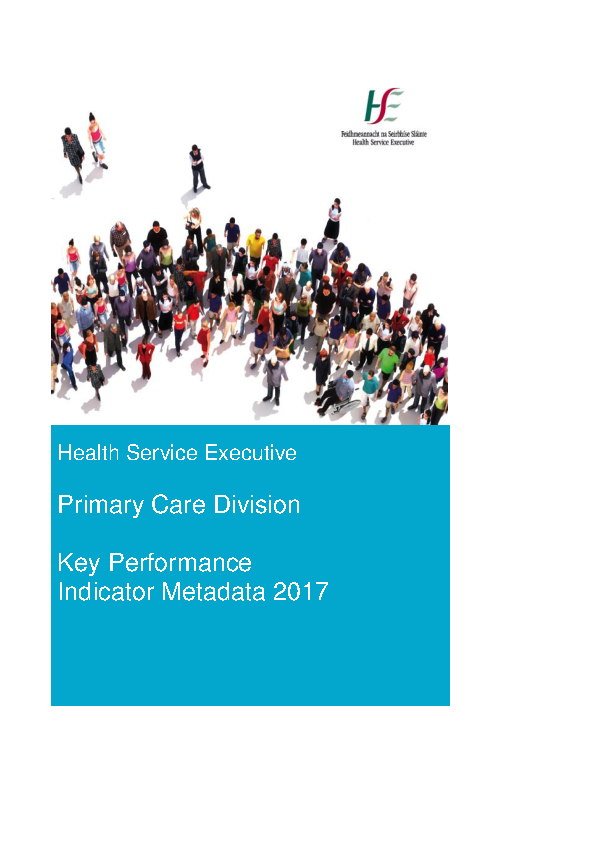 Primary Care KPI Metadata 2017 front page preview image