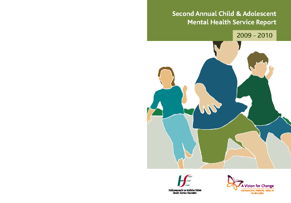 CAMHS Annual Report 2009-2010 front page preview