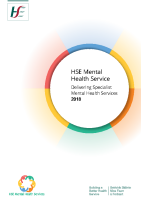 Delivering Specialist Mental Health Services 2018 front page preview image