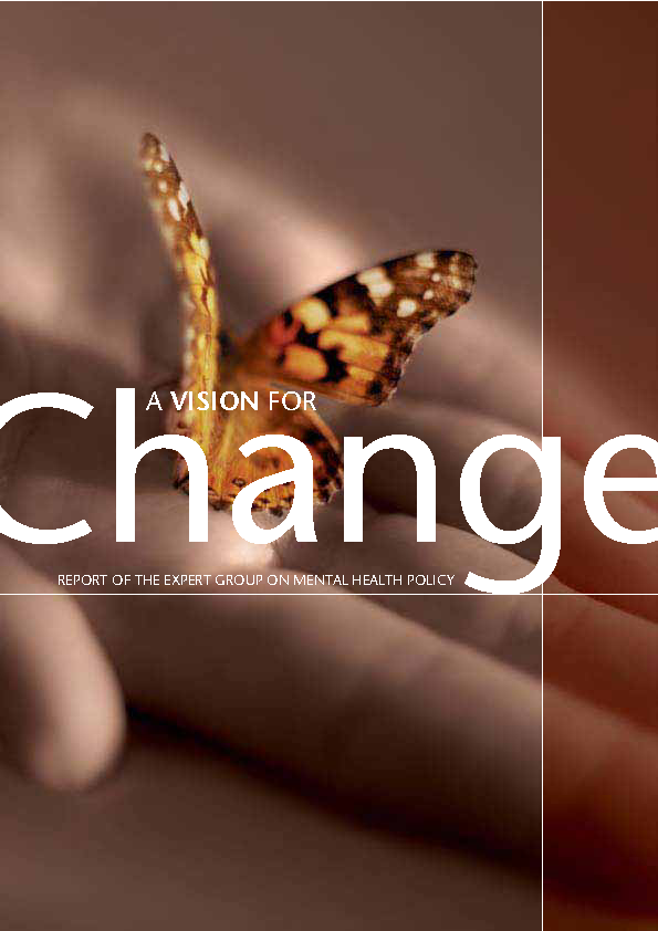 Mental Health - A Vision for Change front page preview